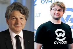 Thierry Breton, PDG d'Atos, et Octave Klaba, PDG d'OVH